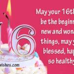 16 Birthday Wishes Image