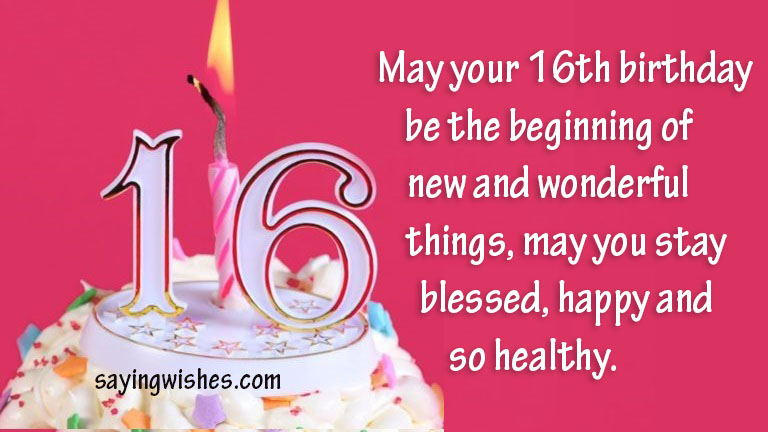 16 Birthday Wishes Image