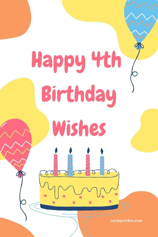 happy 4th birthday wishes