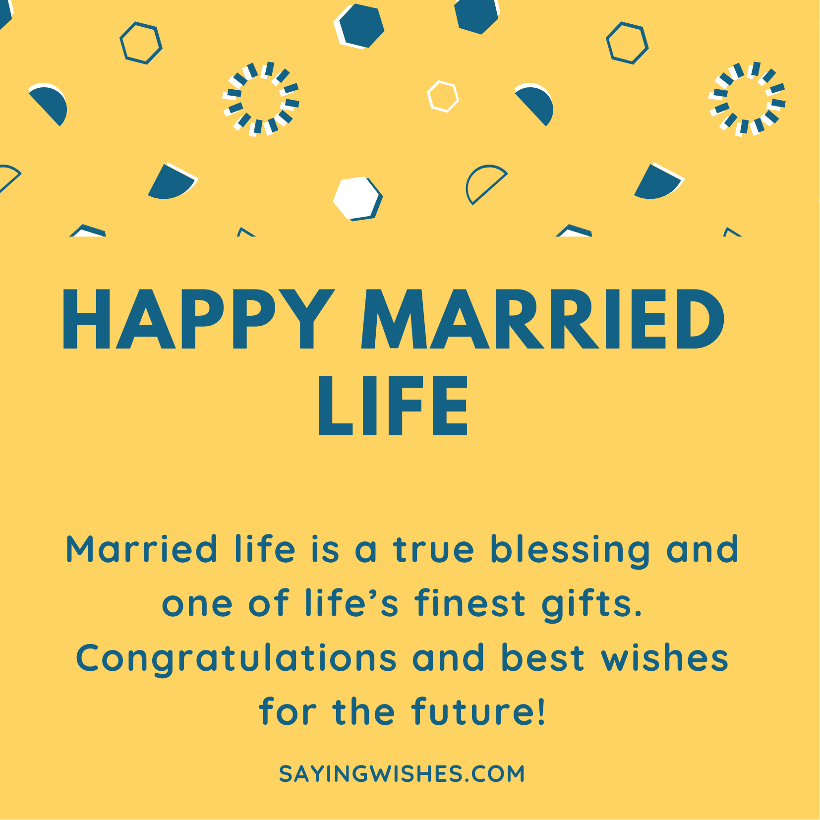 happy married life sayings to couple