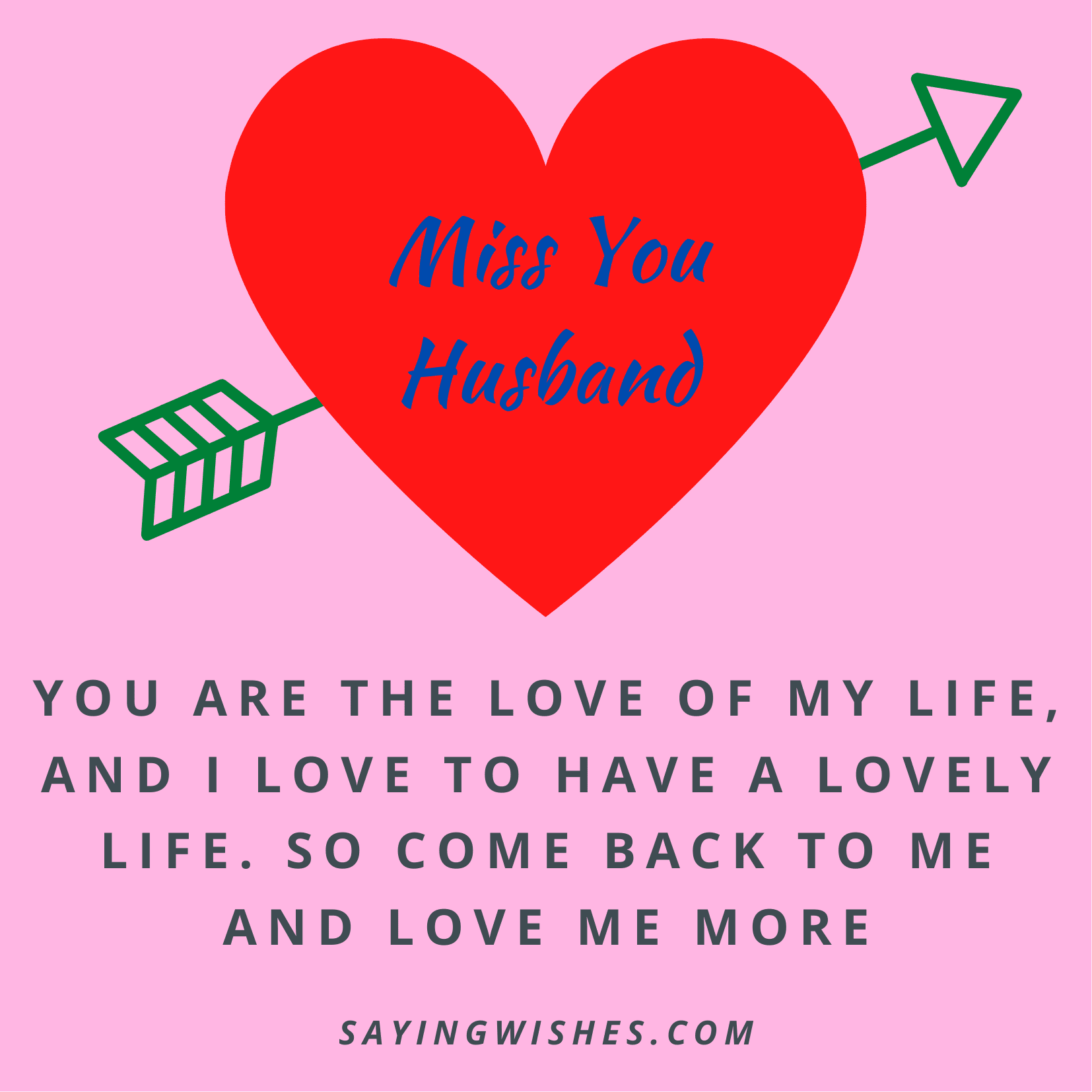 miss you love messages for husband