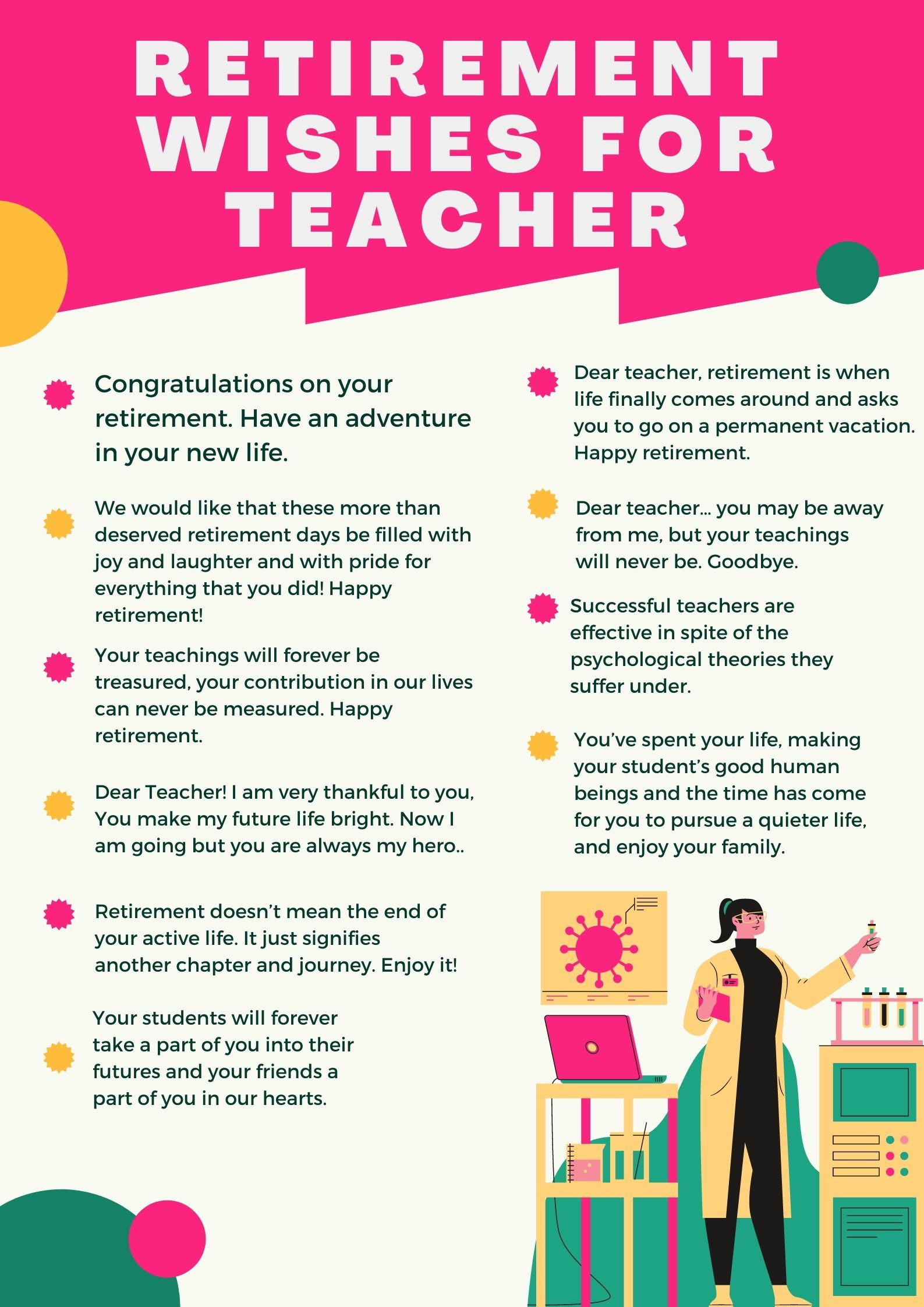 best goodbye sayings for teacher