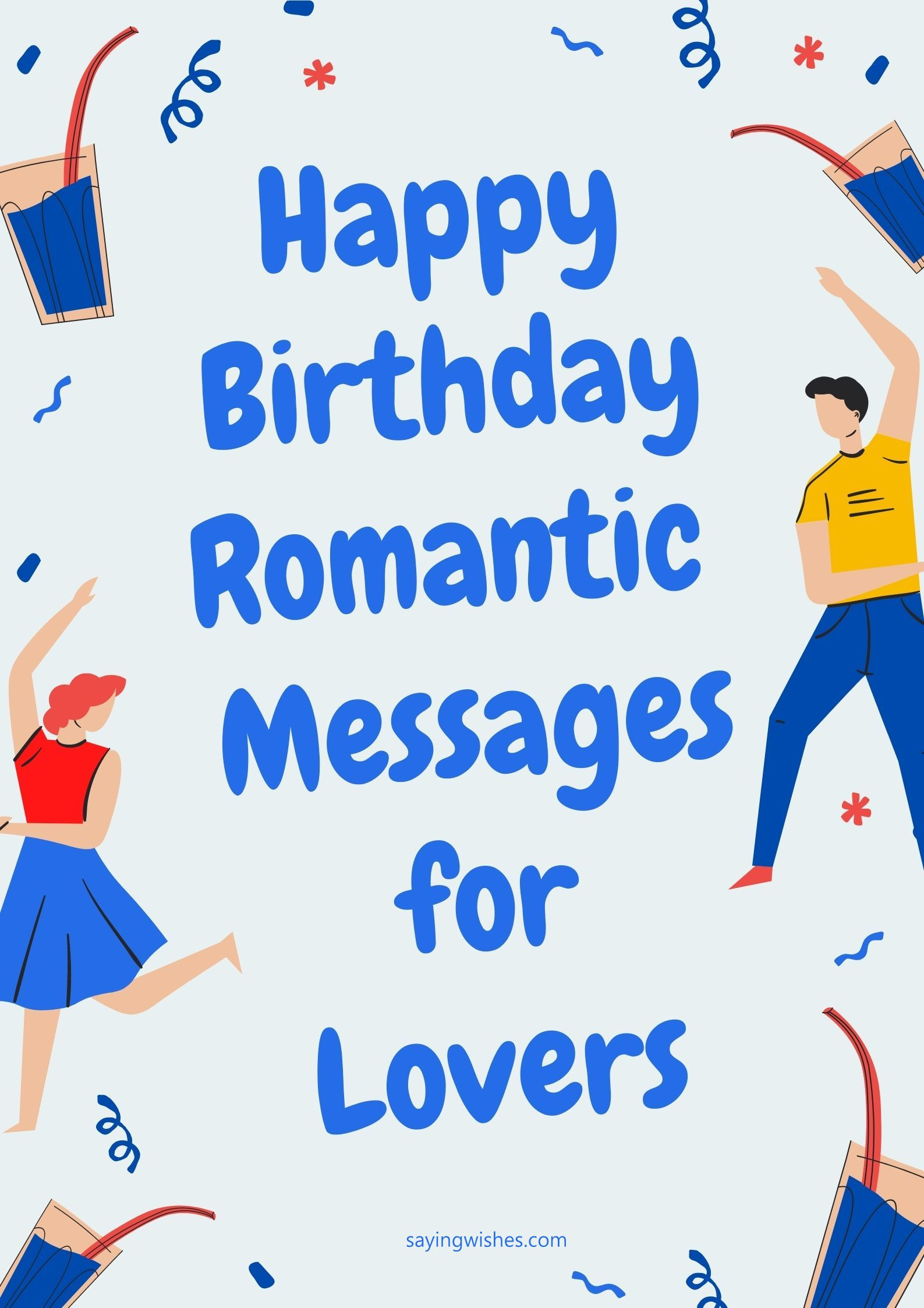 birthday romantic love messages for lovers