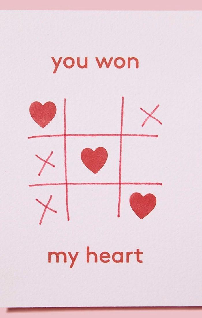 you won my heart love card