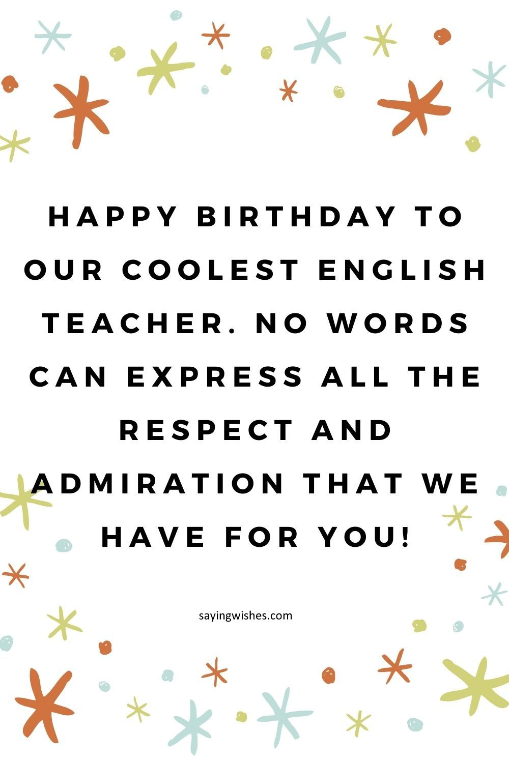 happy birthday wishes for english teacher
