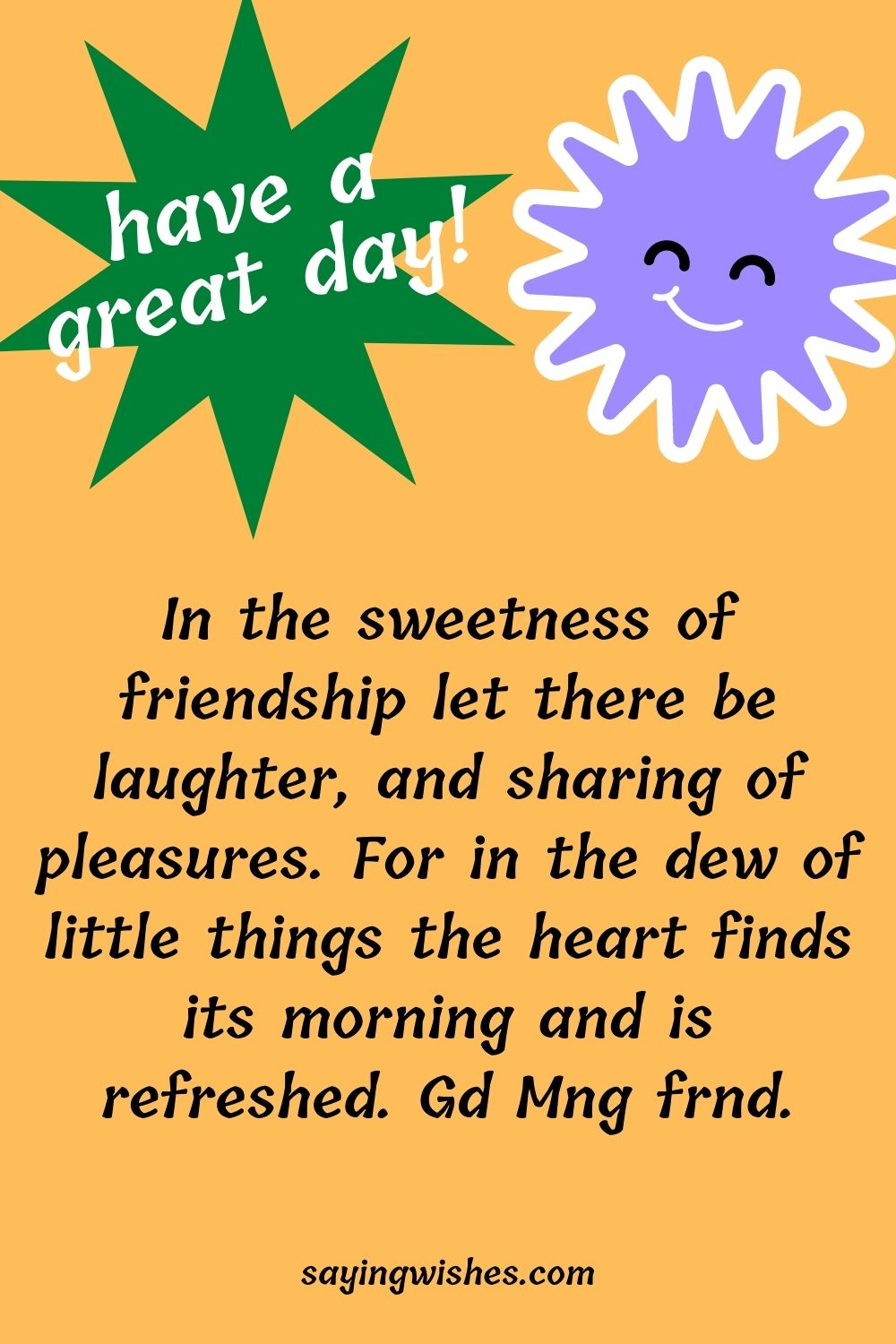 good morning wishes for female friend