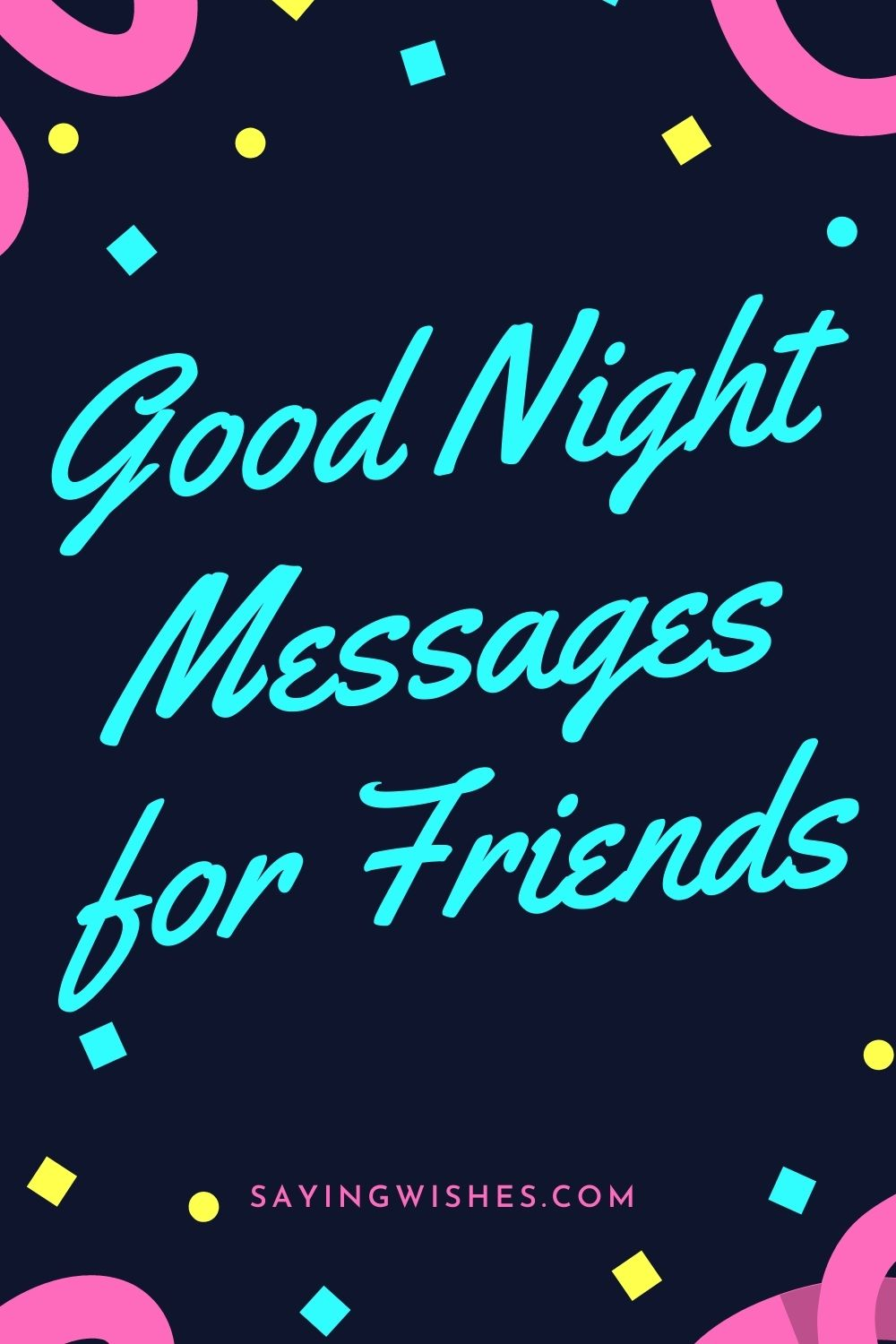 good night whatsapp messages for friends