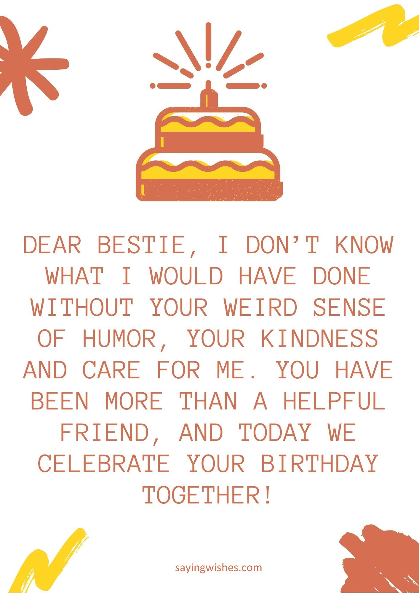 short birthday wishes for female best friend