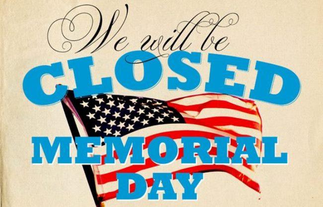 memorial day 2021 closed sign printable