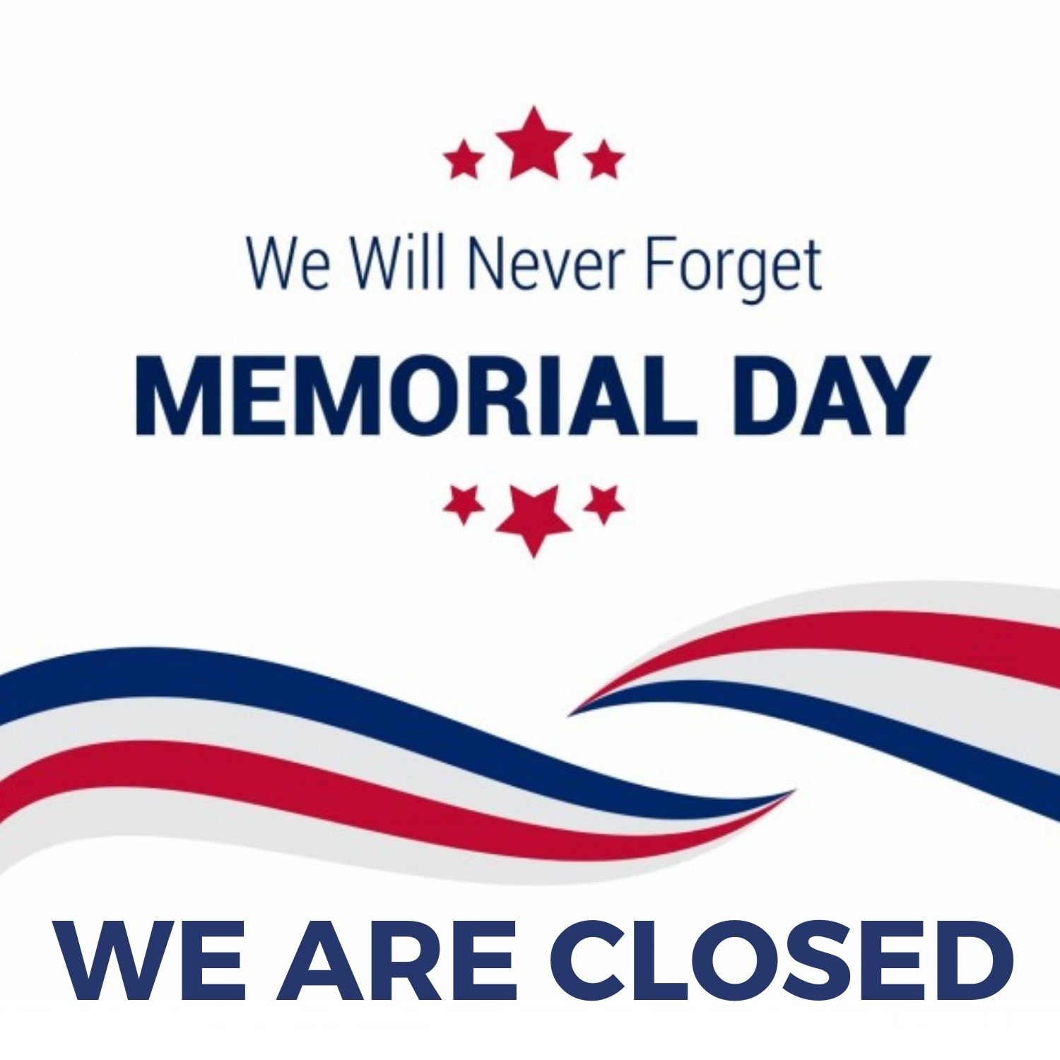 memorial day closed sign images