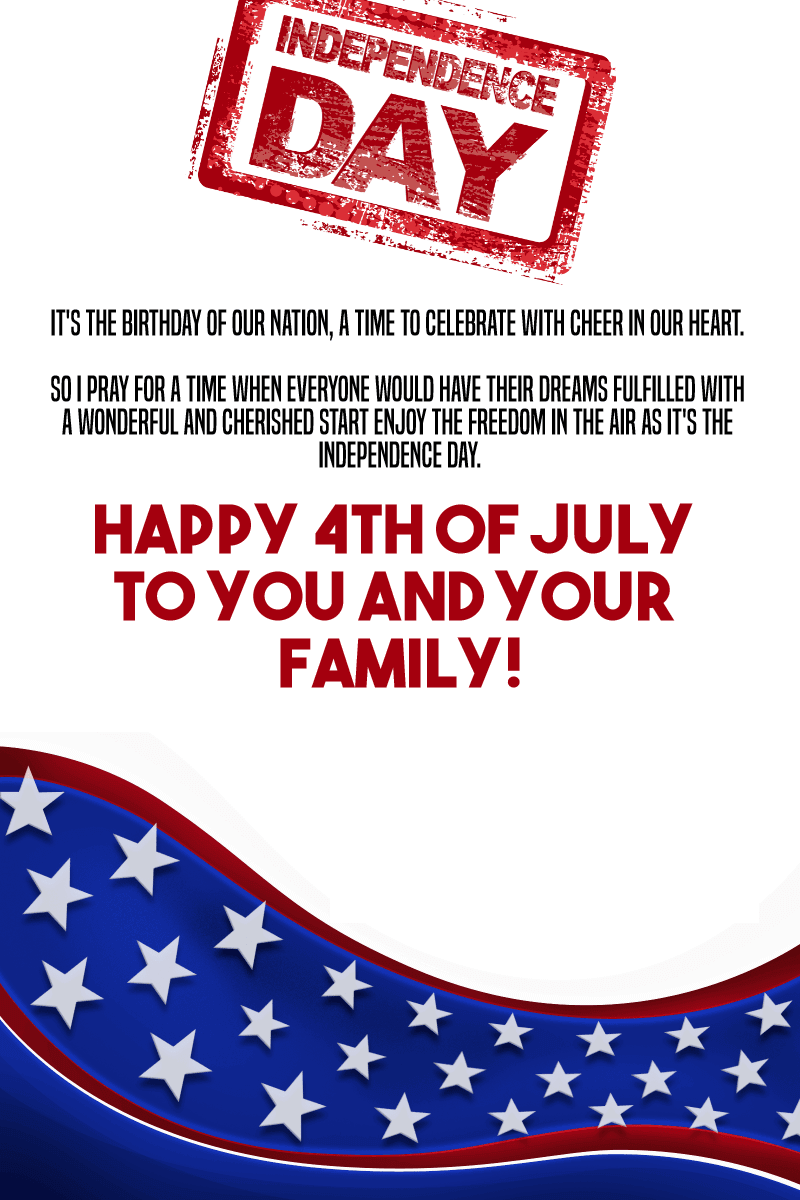 4th of july messages to family
