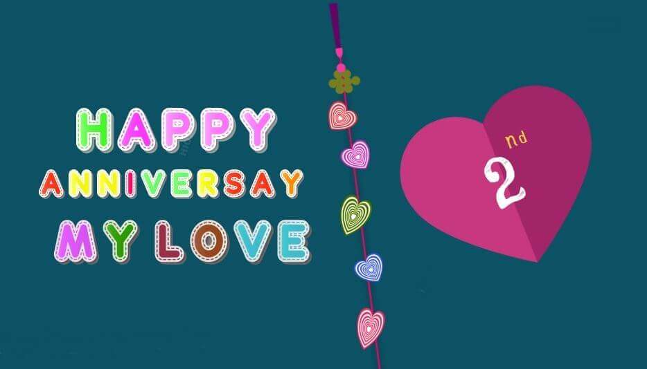 happy 2nd anniversary wishes for husband