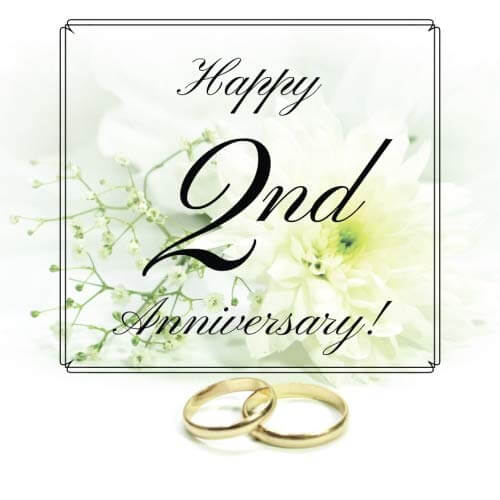happy 2nd anniversary wishes for wife