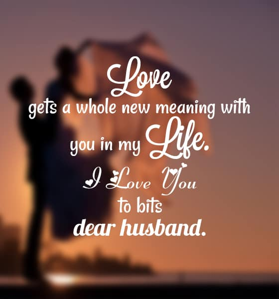 romantic love you messages for husband