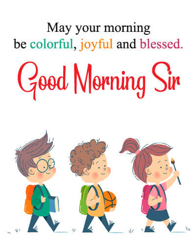 gud mng messages for sir