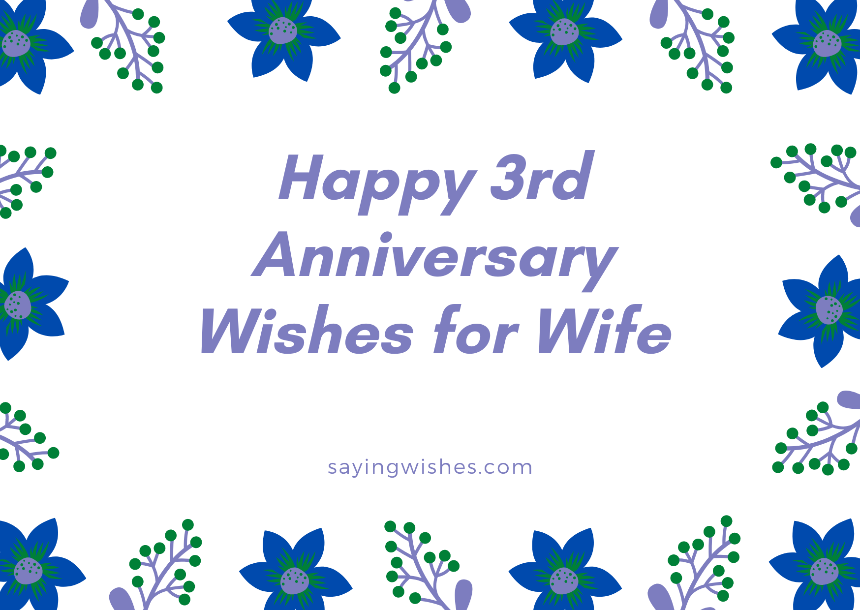 happy 3rd anniversary wishes for wife