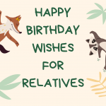 happy birthday wishes for relatives