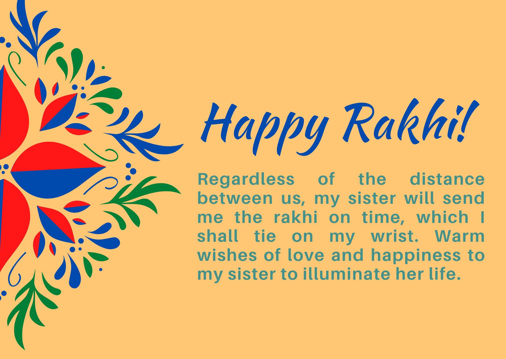 long distance happy raksha bandhan 2021 wishes