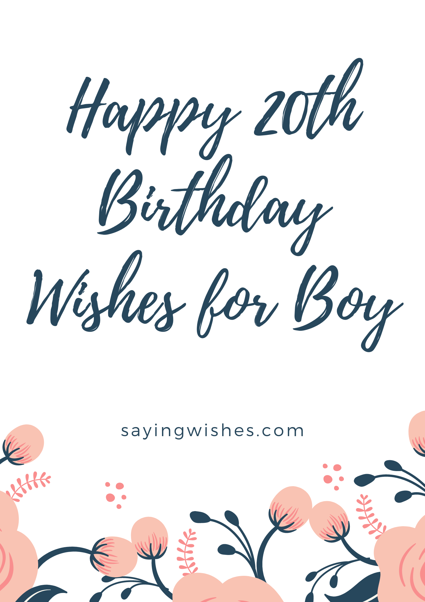20th bday wishes for boy