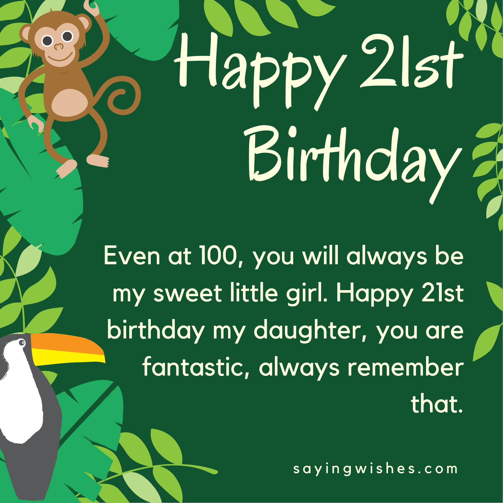 21st birthday wishes for daughter