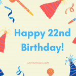 happy 22nd birthday wishes messages