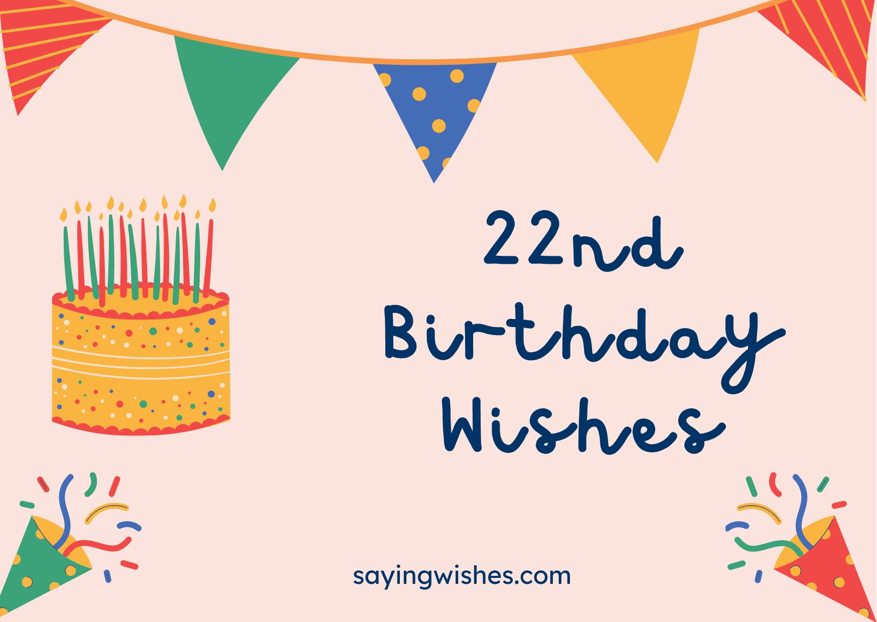 twenty two bday wishes for boy