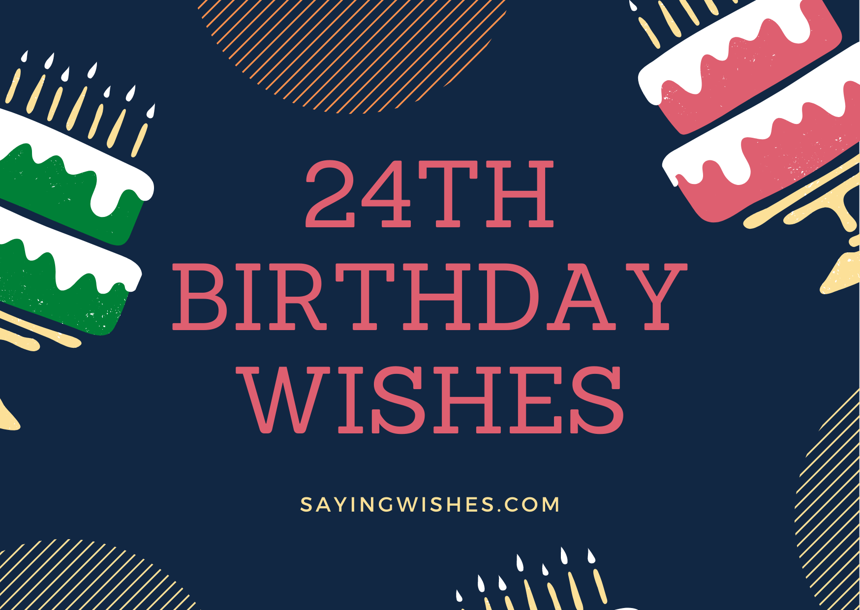 24th birthday wishes for friends