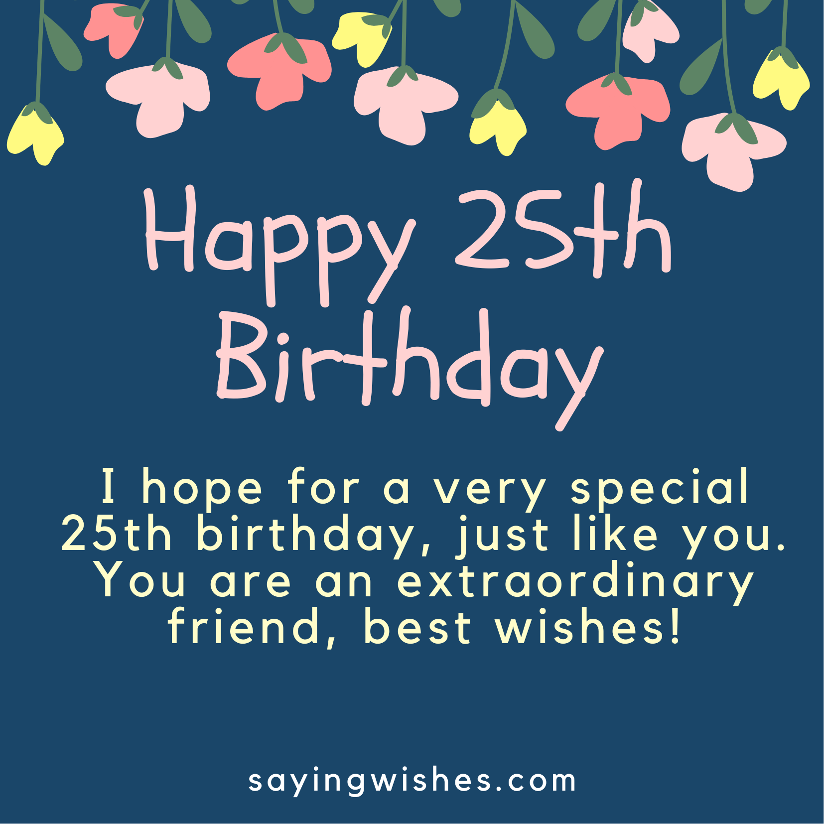25th birthday wishes messages for daughter