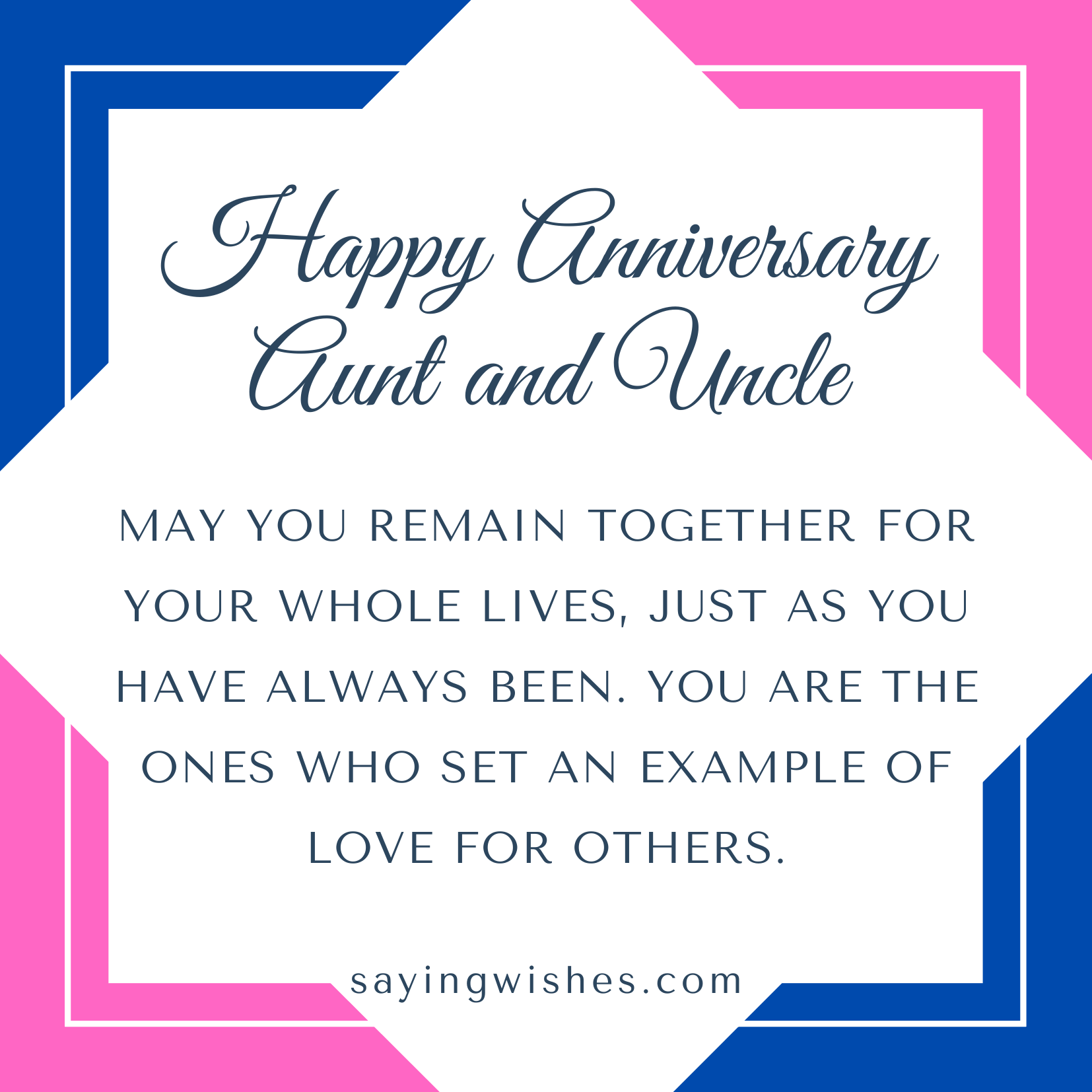 anniversary sayings for uncle aunty
