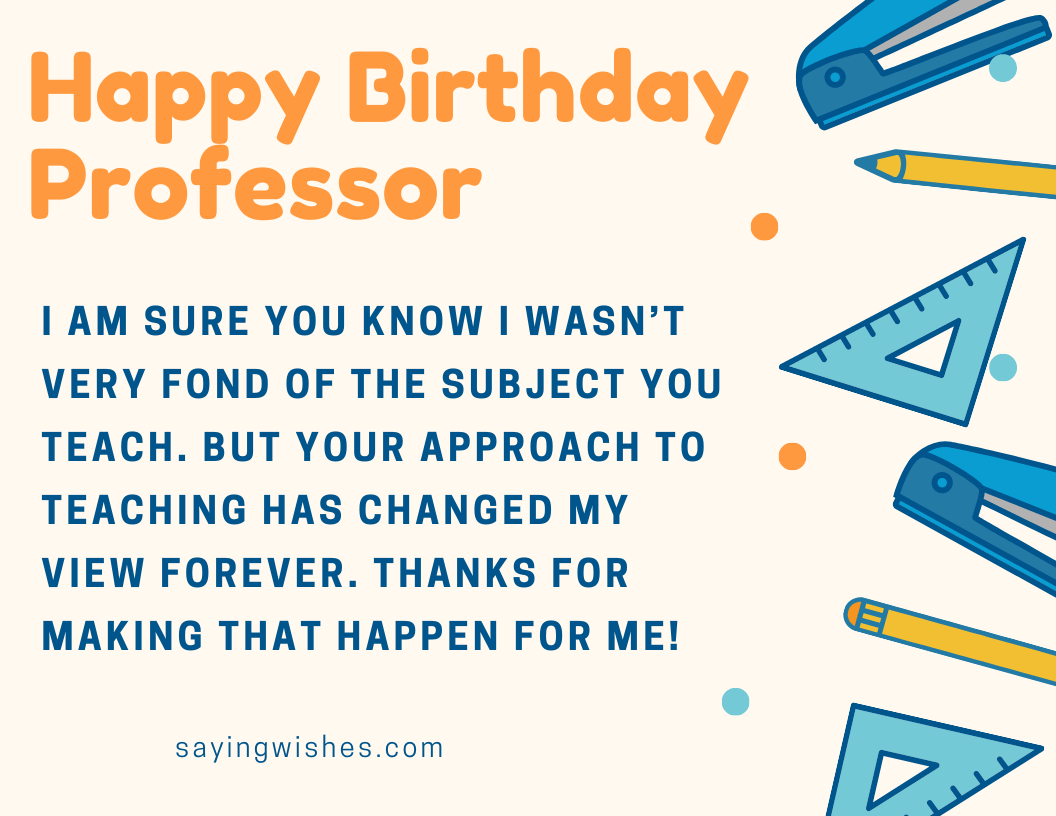 funny bday wishes for professor