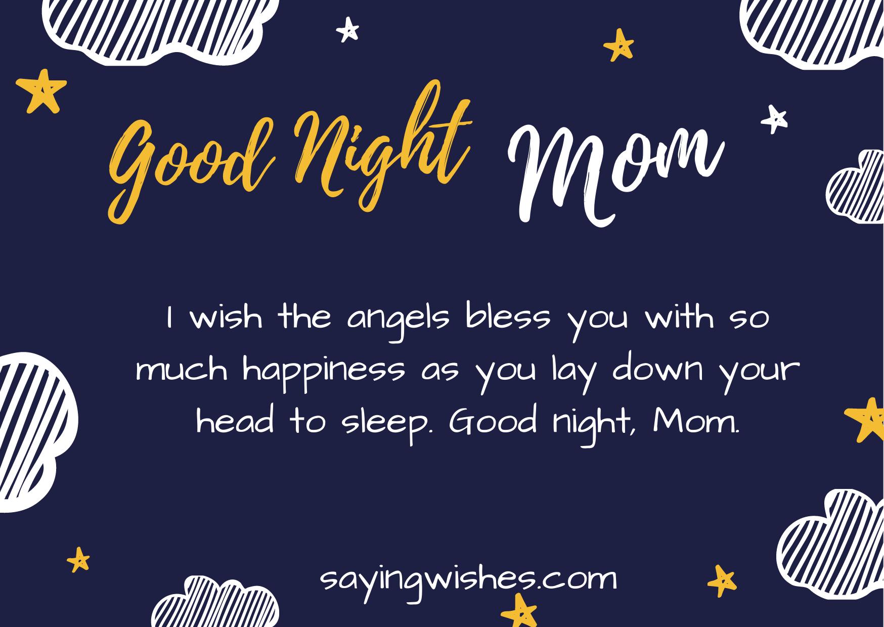 good night whatsapp status for mom