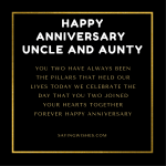 happy anniversary wishes for uncle and aunty