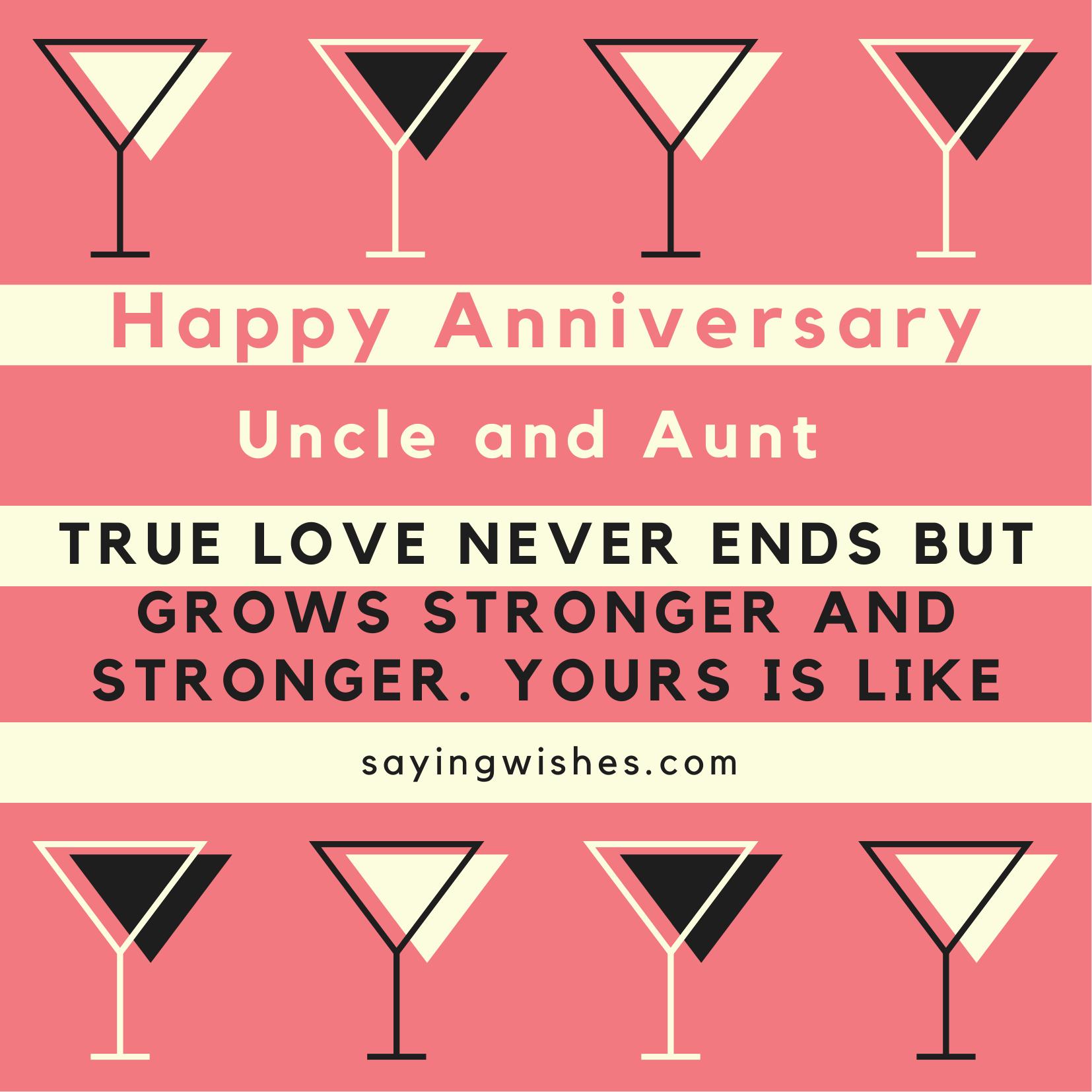 sweet anniversary wishes for uncle ji and aunty ji