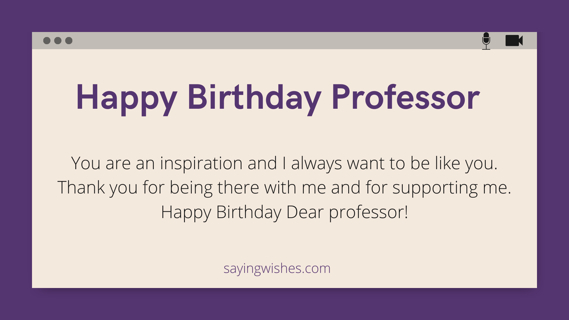 bday messages for professor sir or mam