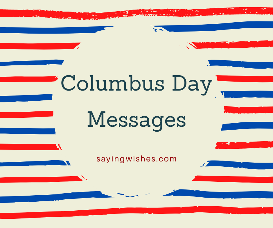 happy columbus day messages