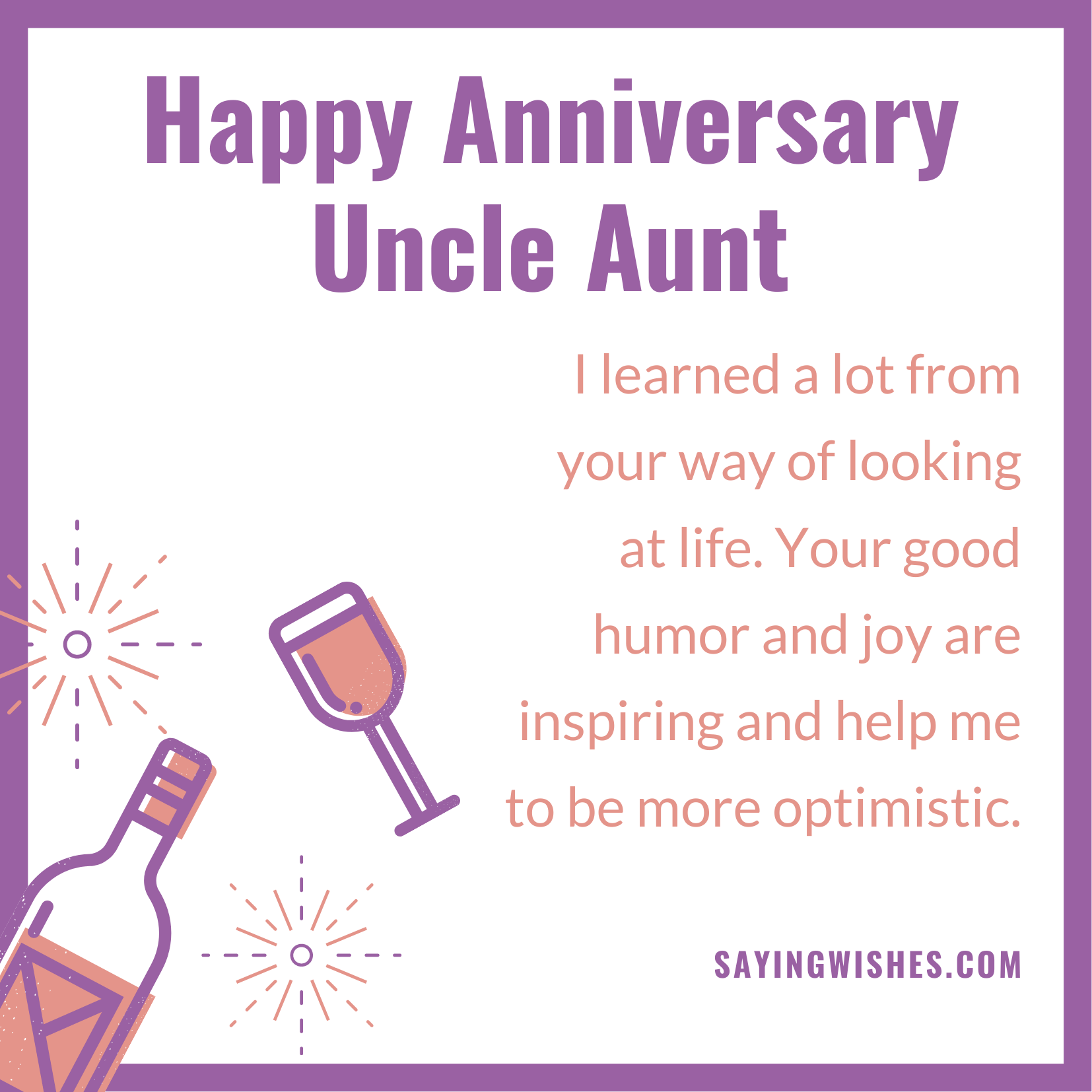 short anniversary wishes for uncle and aunty