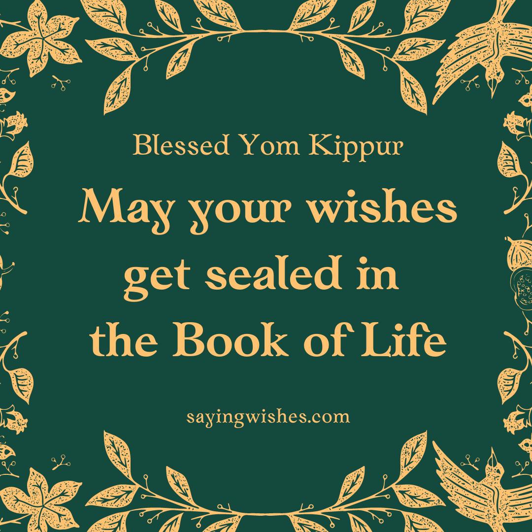 happy yom kippur best wishes