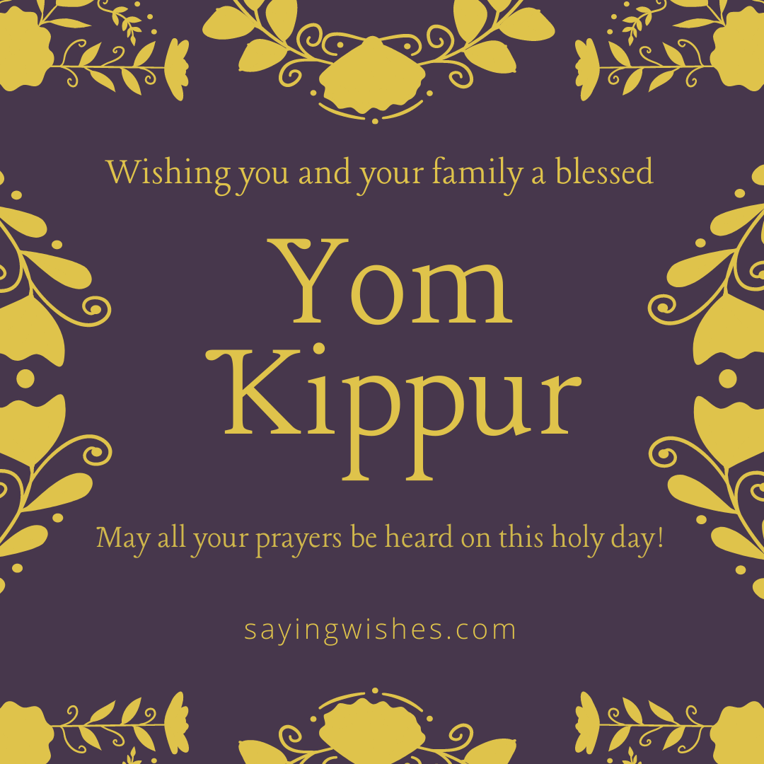 best yom kippur wshes and greetings