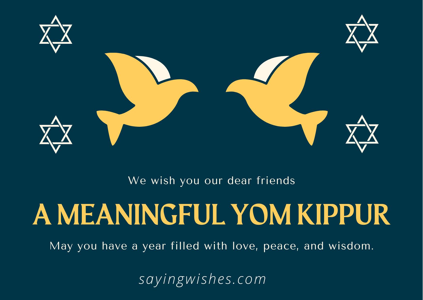 beautiful yom kippur wishes with photos