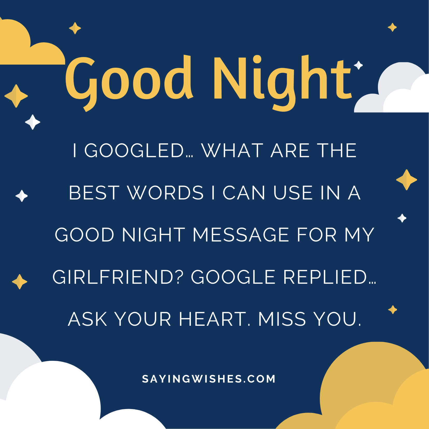 miss you good night messages for long distance girlfriend