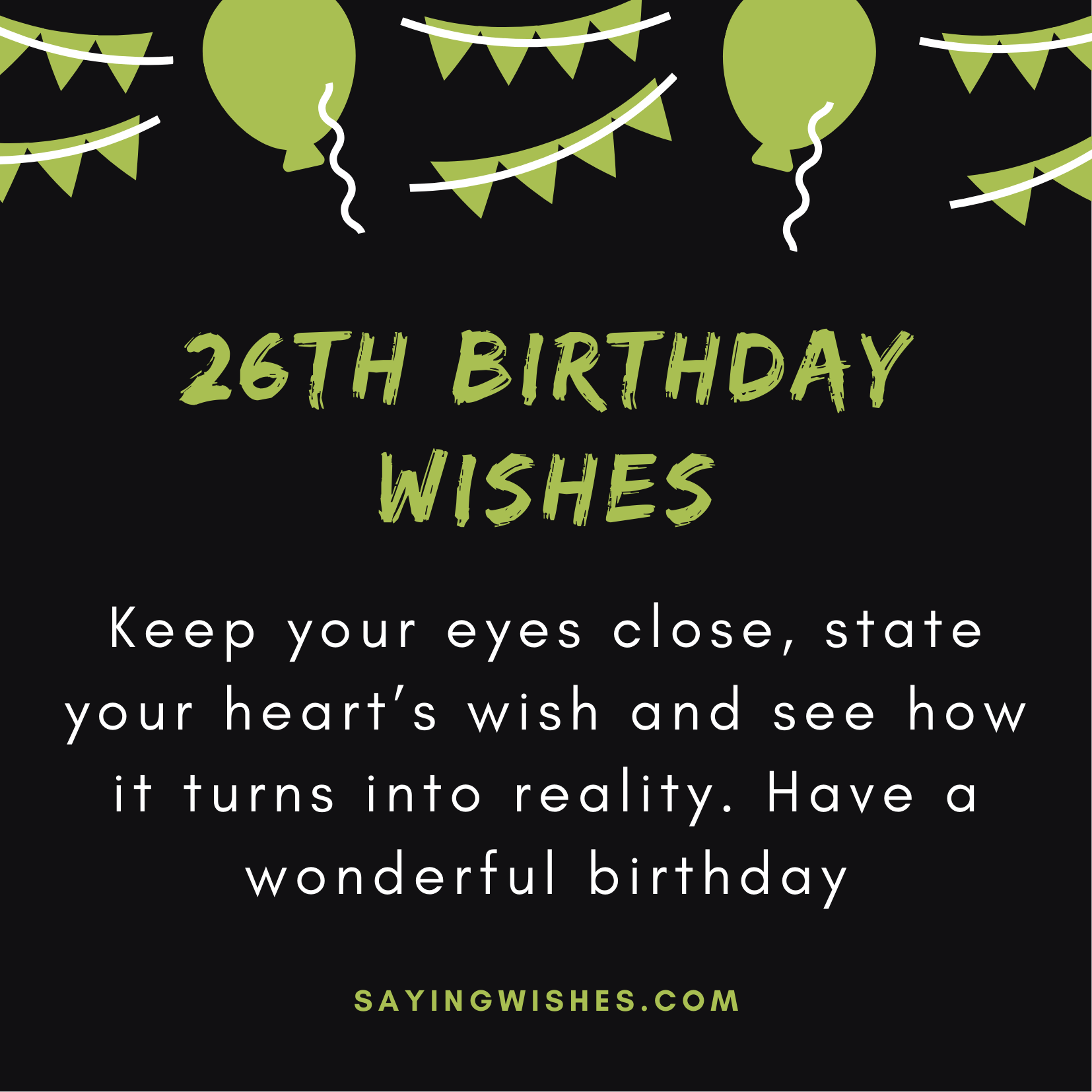 short birthday wishes for 26 years old